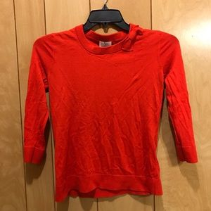Kate Spade Red Orange Sweater with Bow M